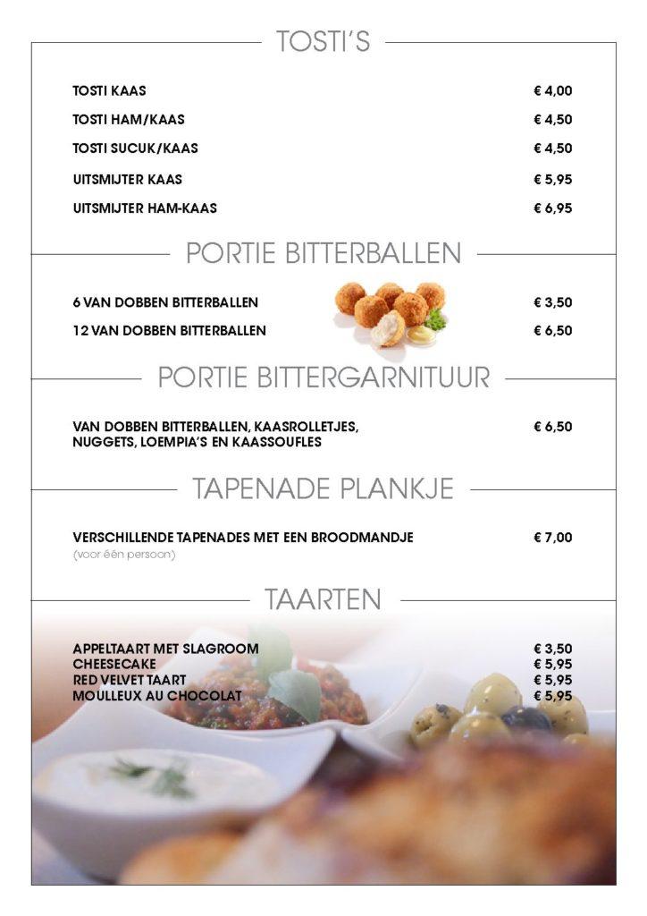 Lunch menu Rocca